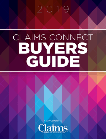 Claims magazine December Buyers Guide cover